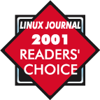 Linux Journal 2001 Readers' Choice